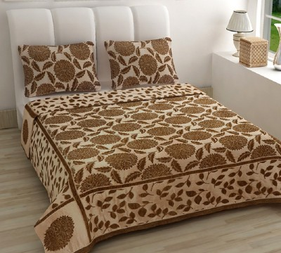 Natraj HL Chennile Abstract Queen sized Double Bedsheet