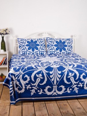 Ocean Collection Cotton Floral Queen sized Double Bedsheet