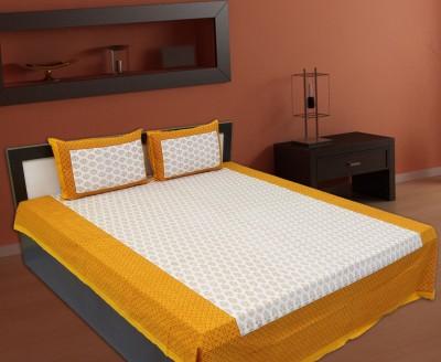 V Home Elegance Cotton Printed Double Bedsheet