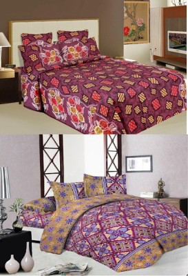 Buy Clues Cotton Printed Double Bedsheet