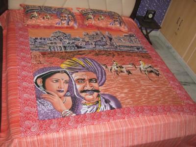 Kandkdecor Cotton Printed King sized Double Bedsheet