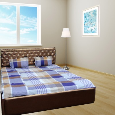Bedsheet Zone Cotton Checkered Double Bedsheet