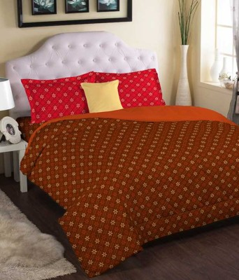 Bichauna by Portico Cotton Geometric King sized Double Bedsheet