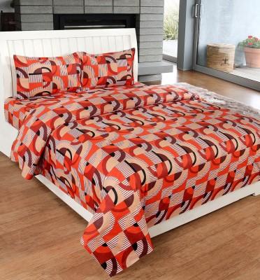 Ultimate Home Decor Cotton Geometric Double Bedsheet