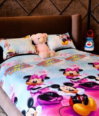 Villas Decor Polycotton Cartoon Double Bedsheet