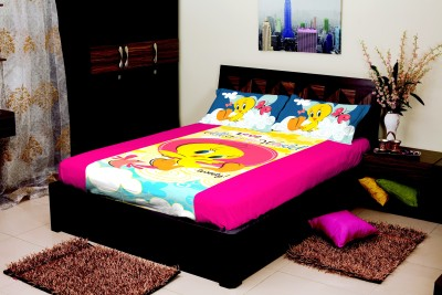 Portico New York Cotton Abstract Single Bedsheet
