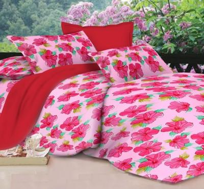 Lotus Satin Floral King sized Double Bedsheet