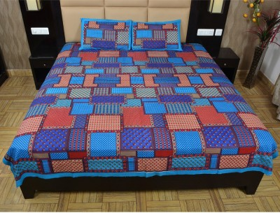 Maurvison Cotton Printed Double Bedsheet