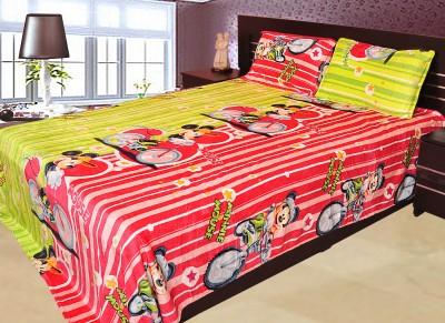Gopani Dispatchers Polyester Silk Blend Cartoon Double Bedsheet