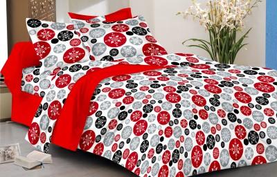 Mee Pra Cotton Polka Double Bedsheet