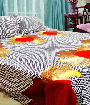 Ridhaan Cotton Abstract Double Bedsheet