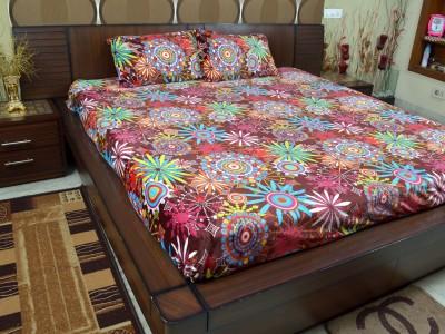 Adinath Polyester Printed Double Bedsheet