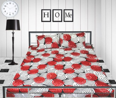 Rayon Casa Cotton Geometric Double Bedsheet