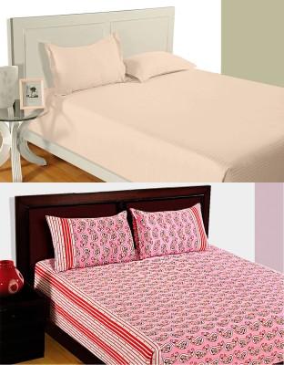 Idrape Cotton Paisley Double Bedsheet
