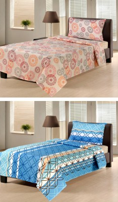 Hemlines Cotton Abstract Single Bedsheet