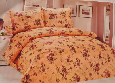 Pripson Polyester Floral Double Bedsheet