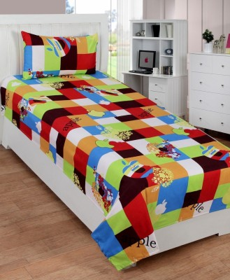 Home Cloud Polycotton Abstract Single Bedsheet