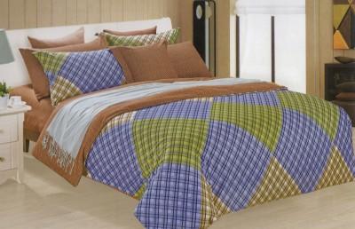 Aspire Inc Cotton Checkered Double Bedsheet