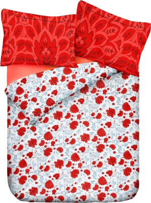 Pipal Cotton Floral Double Bedsheet