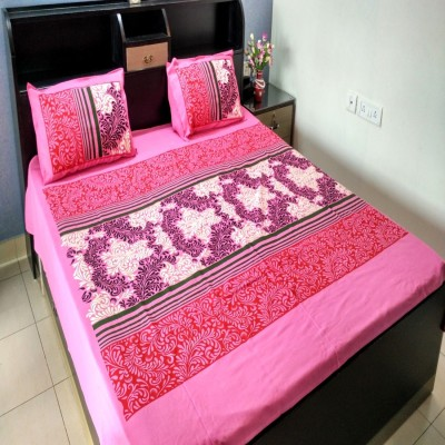 Griiham Cotton Floral Queen sized Double Bedsheet