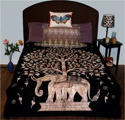 HAG Art and Craft Cotton Printed Single Bedsheet