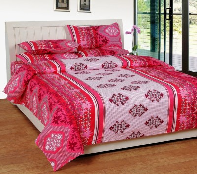 SRKS Cotton Floral Double Bedsheet