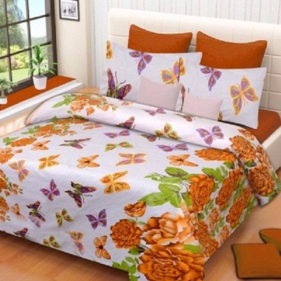 IndianOnlineMall Cotton Printed Double Bedsheet