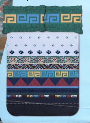 Kal Cotton Abstract King sized Double Bedsheet