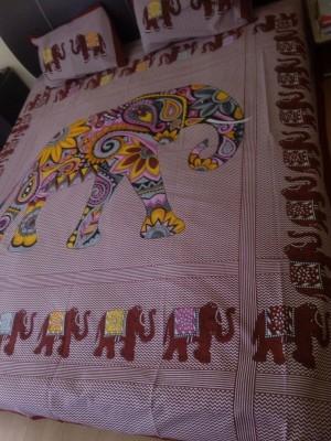 Shopgalore Cotton Abstract Double Bedsheet