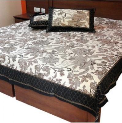 shoppingtara Cotton Floral Queen sized Double Bedsheet