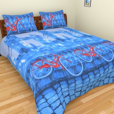 Abhomedecor Cotton Printed Double Bedsheet