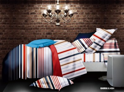 Cosy Polycotton Striped Double Bedsheet