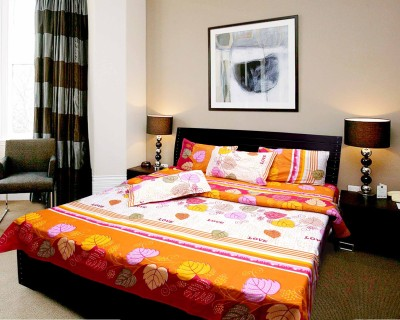 Elegance Polycotton Floral Double Bedsheet