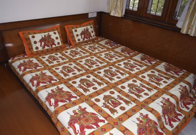 Shobha Special Cotton Printed Double Bedsheet