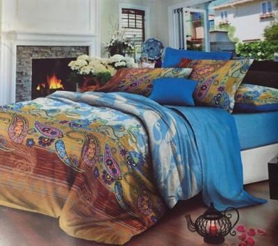 YashnaDecor Polycotton Printed Double Bedsheet