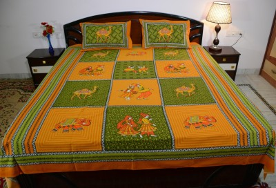 Culture Rajasthan Cotton Printed Double Bedsheet