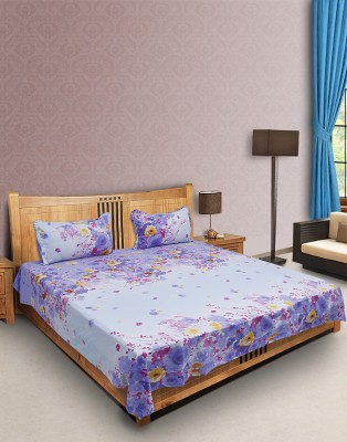 Envent Cotton Floral Double Bedsheet