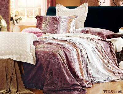 Skap Cotton Abstract King sized Double Bedsheet