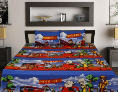 ahmedabad print Cotton Cartoon King sized Double Bedsheet