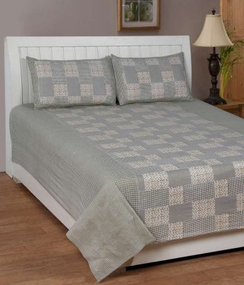 Moms Collection Cotton Checkered Double Bedsheet