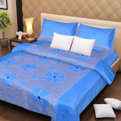 Home Fashion Gallery Cotton Geometric Double Bedsheet