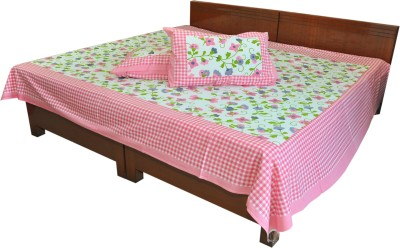 Artisan Creation Cotton Checkered Double Bedsheet