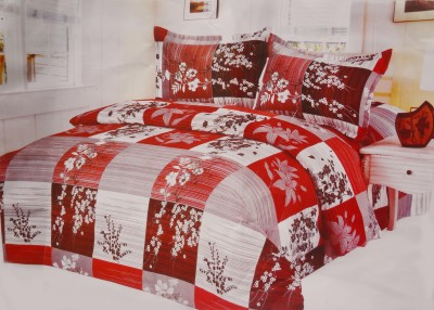 Pripson Polyester Abstract Double Bedsheet