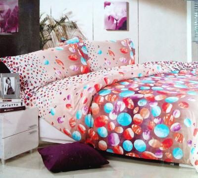 TJAR Polyester Polka Double Bedsheet