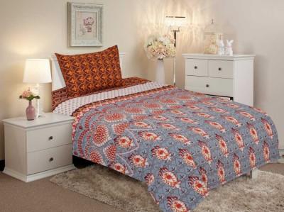 Salona Bichona Cotton Geometric Single Bedsheet