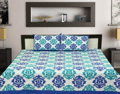 TOUCH FEEL Cotton Self Design Double Bedsheet