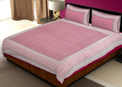 Avon Apparels Cotton Abstract Double Bedsheet