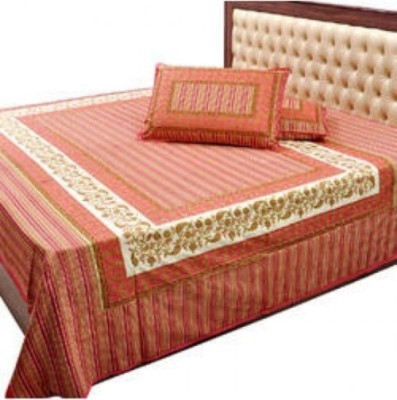 Big Onlineshop Cotton Embroidered Double Bedsheet
