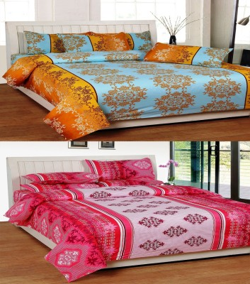 Indianonlinemall Cotton Embroidered Double Bedsheet