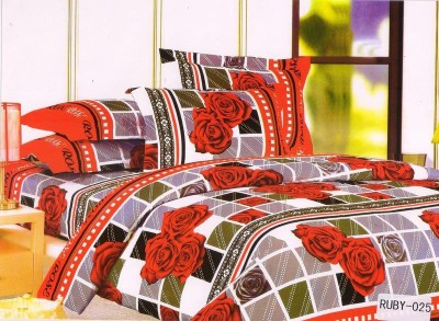 Welhouse India Polycotton Floral Double Bedsheet